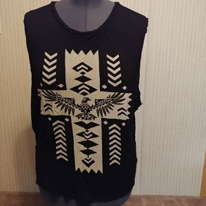 Forever 21 Plus Black Tank Muscle Tee Size 3XL